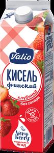 «Кисель Valio» безалкогольный напиток  из клубники и винограда, без сахара, 0.95 л