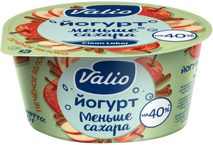 Йогурт Valio «Печеное яблоко» с яблоком и корицей Clean Label®, 2.9 %, 120 г