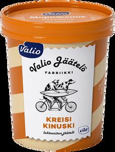 Мороженое сливочное ванильное с наполнителем «Карамель» и кусочками фаджа Valio