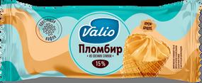 Мороженое пломбир крем-брюле в вафельном сахарном рожке с молочным шоколадом Valio, 90 г