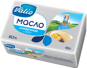 Масло Valio кислосливочное 82,5%, 450 г