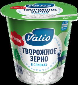 Продукт творожный зерненый Valio «Творожное зерно» в сливках, 290 г