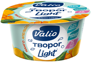 Творог Valio обезжиренный с манго и апельсином, 140 г