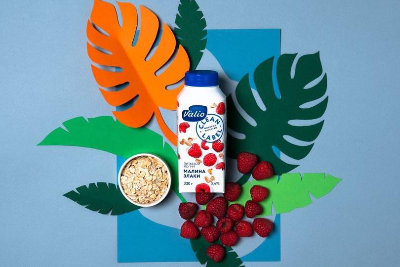 Йогурт питьевой Valio с малиной и злаками Clean Label.jpg