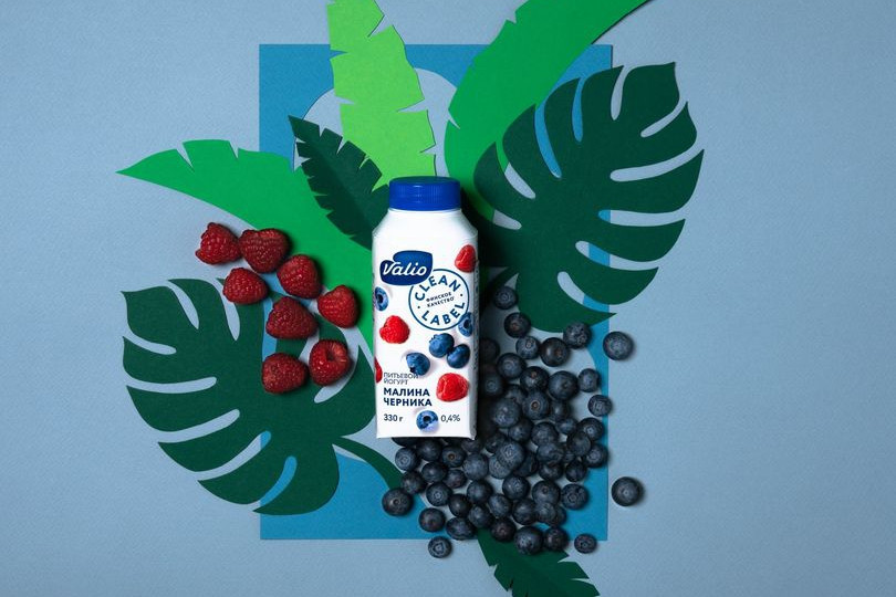 Йогурт питьевой Valio с малиной и черникой Clean Label.jpg