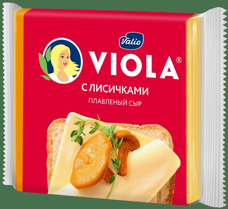 Сыр плавленый Viola с лисичками в ломтиках, 140 г