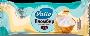 Мороженое пломбир с ароматом ванили в вафельном сахарном рожке с молочным шоколадом Valio, 90 г