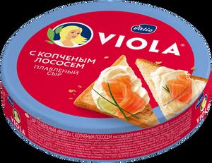 Сыр плавленый Viola с копченым лососем, 130 г
