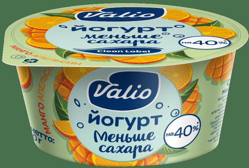 Йогурт Valio с манго и апельсином Clean Label®, 2.9 %, 120 г