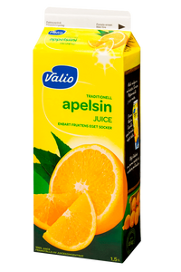 Апельсиновый сок Valio, обогащенный витамином С, 1,5л